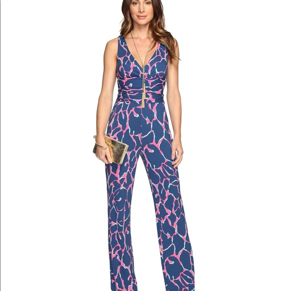 c3d322eb99233f Lilly Pulitzer Pants - Lilly Pulitzer Sloane jumpsuit size Small